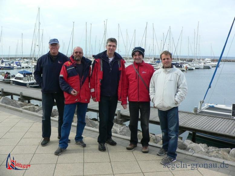 Das Team: Gerd, Winfried, Mario, Jürgen und Carsten