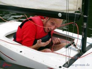 Regattawart ist auch im Boot unterwegs
